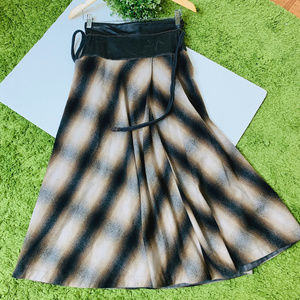 Rozae Nichols Pleated Flare Skirt Size P Brown
